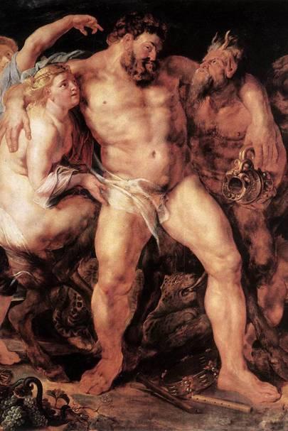 The Drunken Hercules. Circa 1611. Oil on oak panel