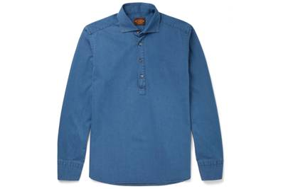 Tod's x Mr Porter chambray popover shirt