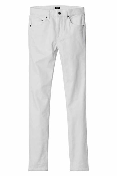 David Beckham H&M Modern Essentials white straight jeans