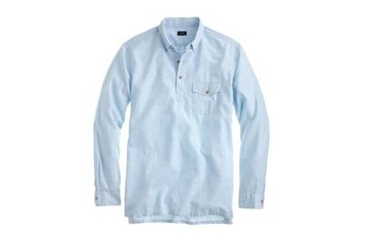 J.Crew brushed cotton popover