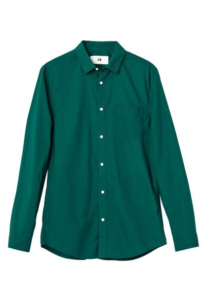 David Beckham H&M Modern Essentials green shirt