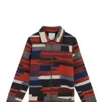 Percival blanket weave zip-up jumper
