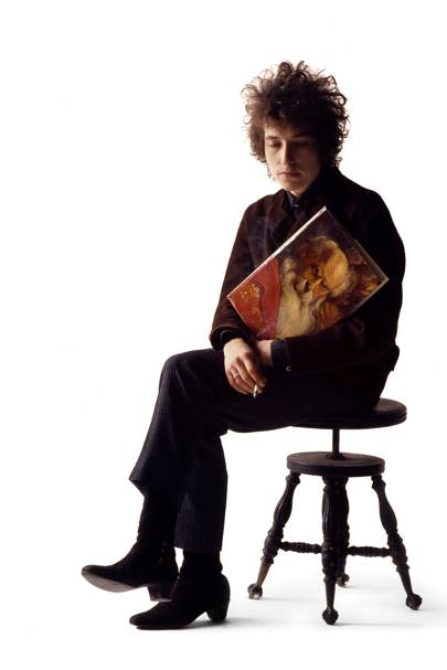 Bob Dylan at Schatzberg's studio in 1965