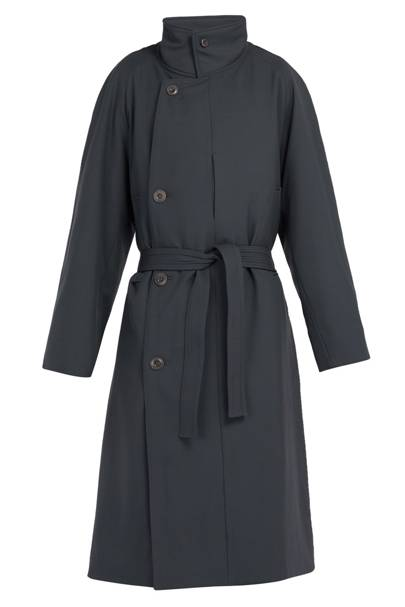 Lemaire Double-Breasted Wool-Gabardine Coat
