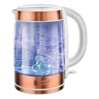 Illuminating glass kettle in copper by Russell Hobbs