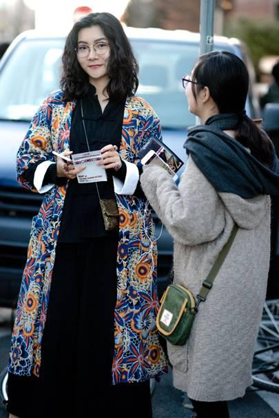 Women Of Milan Fashion Week Aw17 All The Best Women 39 S Street Style British Gq