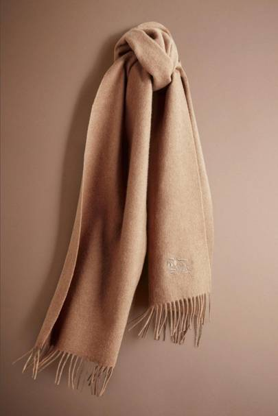 Monogrammed Burberry scarf