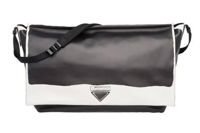 Leather Shoulder Bag by Prada