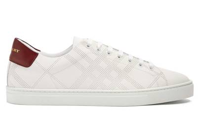 Albert low-top leather trainers by Burberry