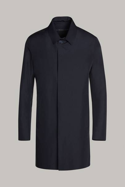 Technical windproof and waterproof trench coat