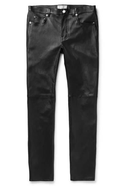 Skinny-fit leather trousers by Saint Laurent