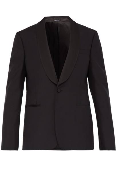 Shawl-lapel tuxedo jacket by Alexander McQueen
