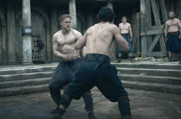 Charlie Hunnam stars in the King Arthur workout video