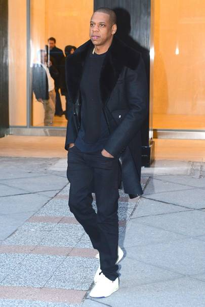 Gotta have it: Jay Z wears jeans by Frame L'Homme.