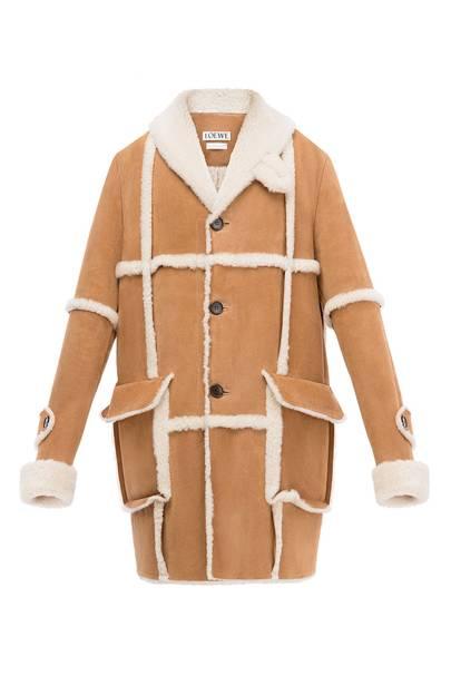 Coat in lambskin shearling by Loewe