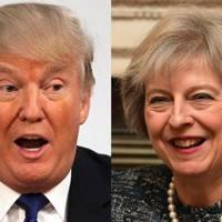 9 Nov 2016: Trump rings Theresa May