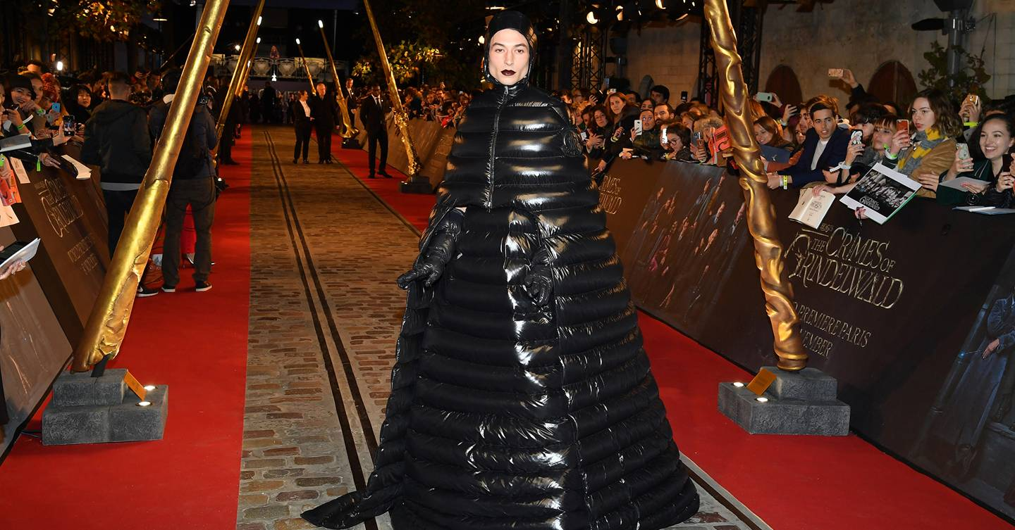 Ezra Miller red carpet outfit: the new rules of the red carpet