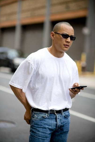 Oversized White T Shirt Men
