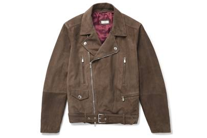 Suede biker jacket by Brunello Cucinelli