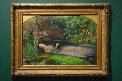 Ophelia. 1852. Oil paint on canvas