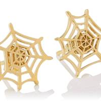 Charlotte Olympia spider web earrings