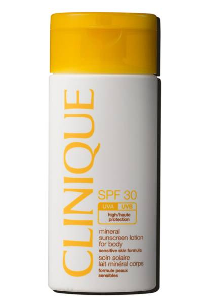 Best New Sun Care: Mineral Sunscreen Lotion SPF 30 For Body by Clinique