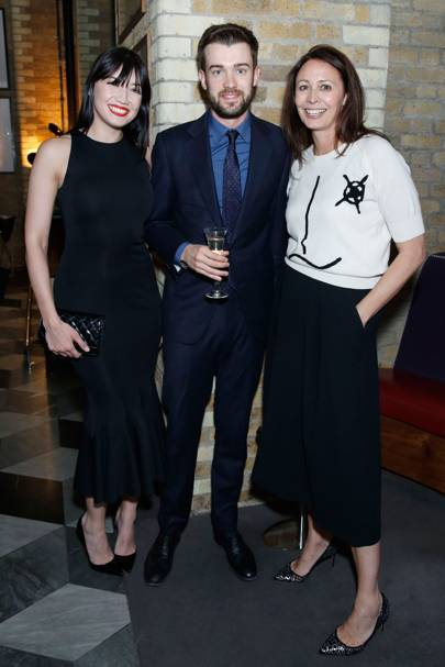 Daisy Lowe, Jack Whitehall and BFC CEO Caroline Rush