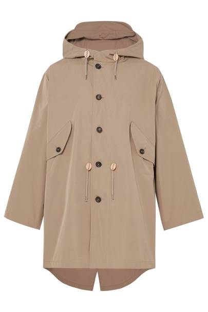 Packable hooded parka by The Workers Club