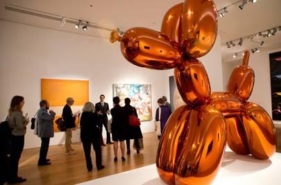 Jeff Koons' Balloon Dog (Orange)