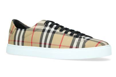 10. Burberry Vintage check trainers