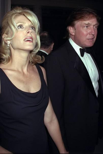 1999: Donald Trump and Marla Maples divorce