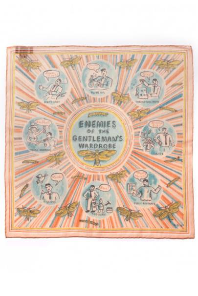 Drake's x Adam Dant 'Enemies of the Gentleman's Wardrobe' pocket square