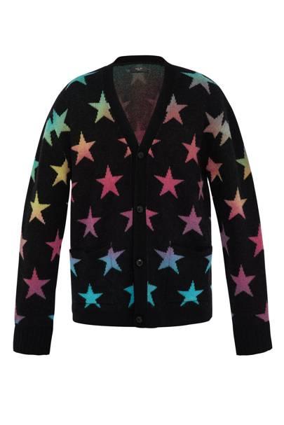 Star jacquard-knit cashmere-blend cardigan by Amiri