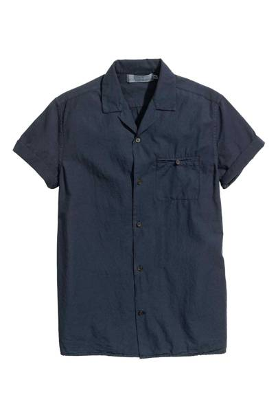 H&M slub-cotton shirt