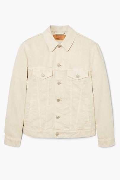 Stone wash denim jacket by Mango Man