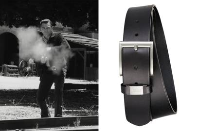 2. A big buckle belt makes a statement