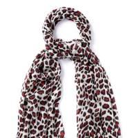 Jaeger leopard print scarf