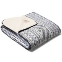 Aspen jacquard cotton-flannel and sherpa blanket by Faherty