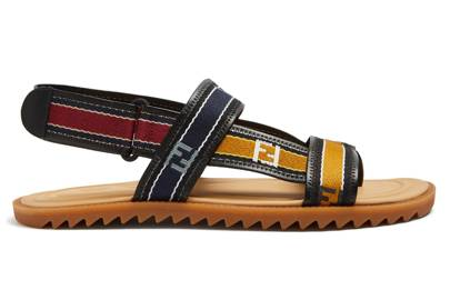 Logo sandals by Fendi