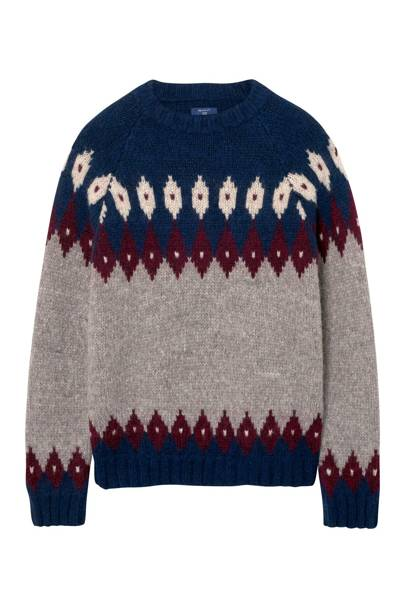 Gant Cozy Fair Isle Crew Sweater