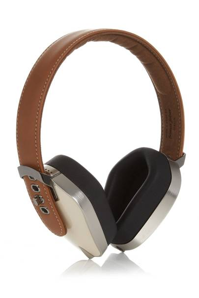 Pryma leather on-ear headphones