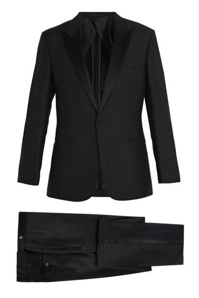 Satin-lapel wool and mohair-blend tuxedo by Kilgour
