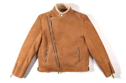 Billionaire Boys Club x Wolfman shearling suede jacket
