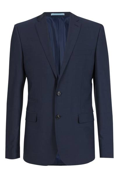 M&S Indigo tailored-fit suit jacket