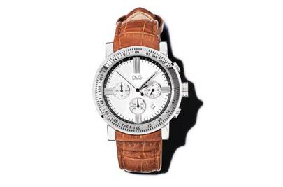 Watch with brown strap by D&G