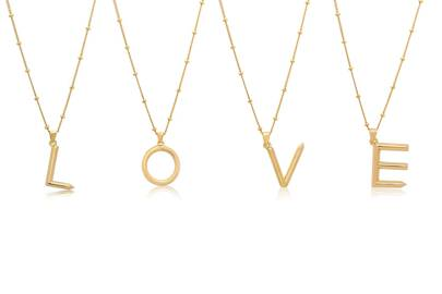 Love Letter initial necklace by Edge Of Ember