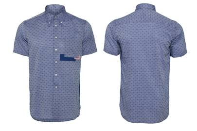 Cotton Blue Dot Shirt by U.Mi-1