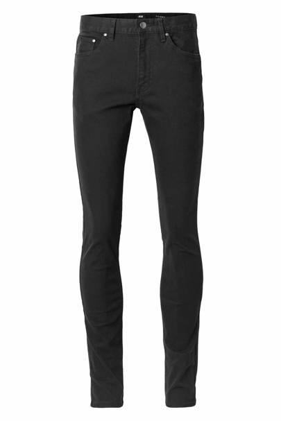 David Beckham H&M Modern Essentials black slim jeans