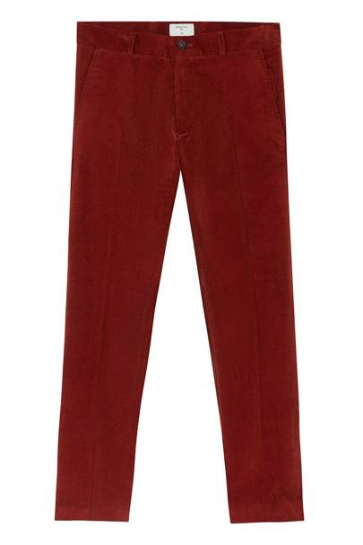 Percival slim straight cord chinos