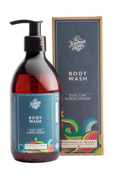Basil, Lime and Sweet Orange Body Wash by The Handmade Soap Company